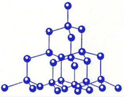 Кристаллическая решетка алмаза атомная