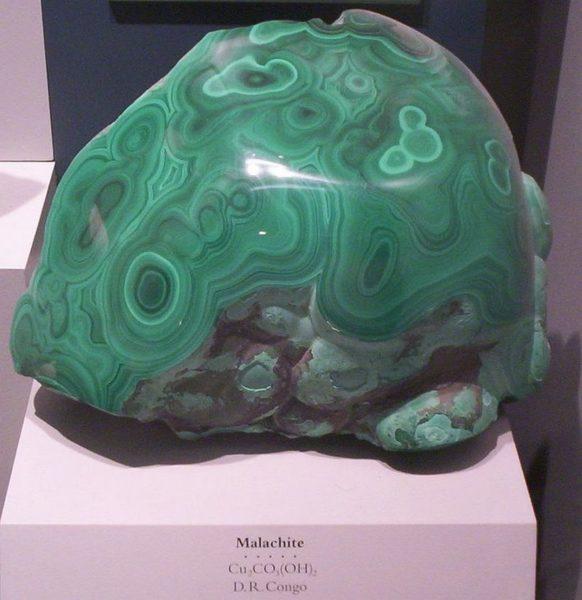 Как выглядит камень малахит фото